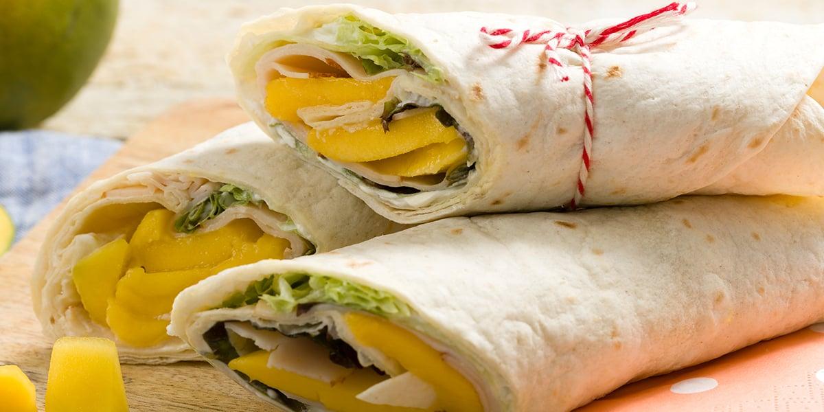EAT ME koude recepten - Mango-kip wrap
