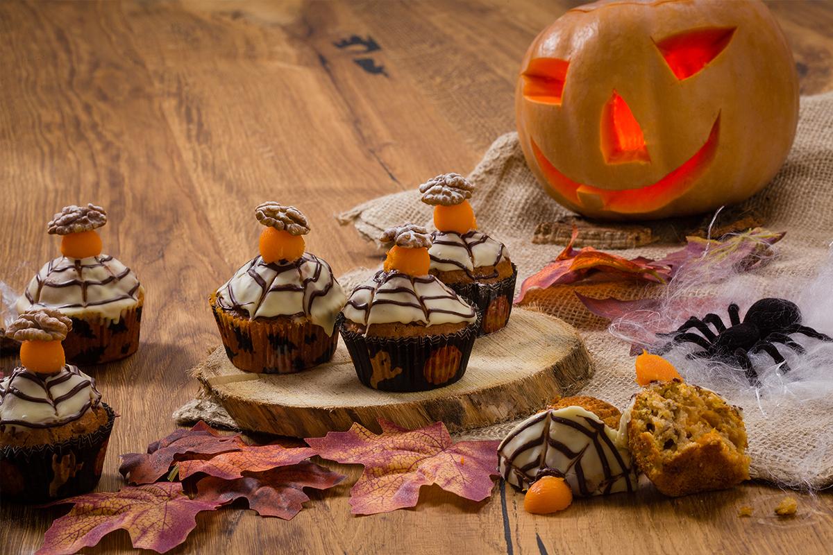 Flespompoen - Halloween pompoenmuffins